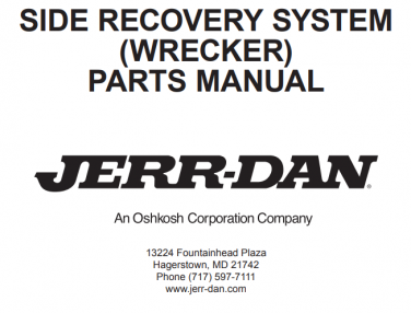 Side Recovery System (JFB Body Series Wrecker)
